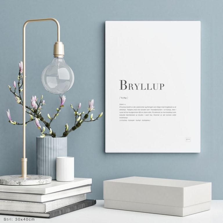 BRYLLUP-30x40cm