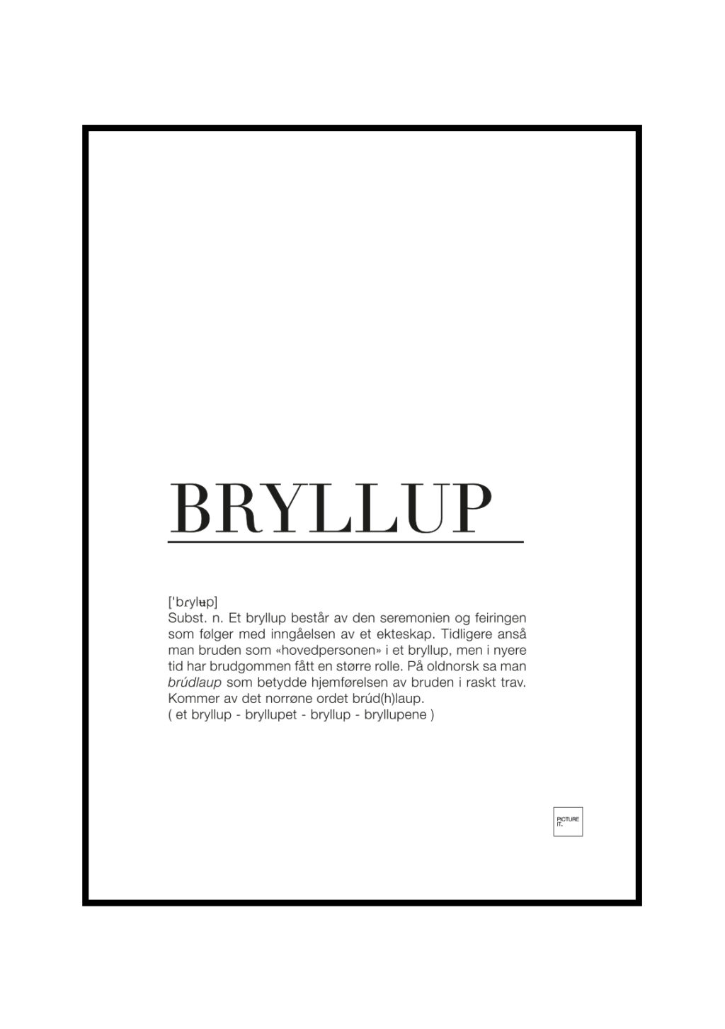bryllup poster