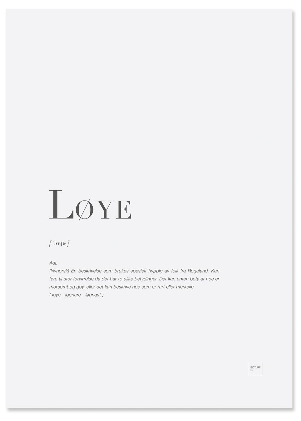 løye-poster