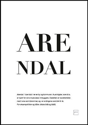 arendal poster