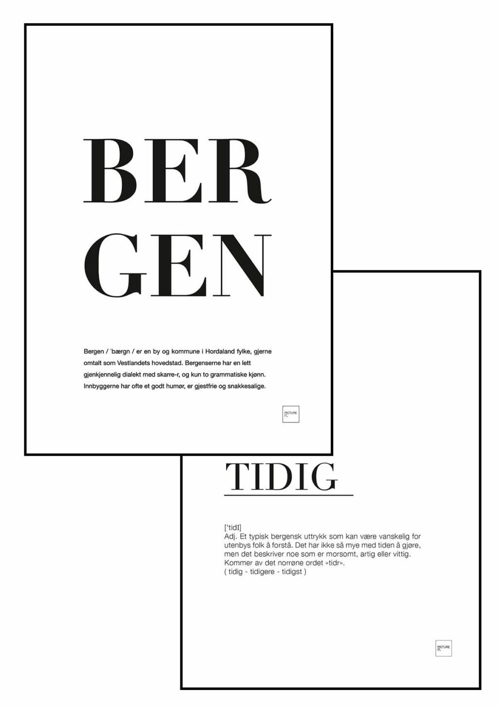 BESTSELGER: BERGEN + TIDIG