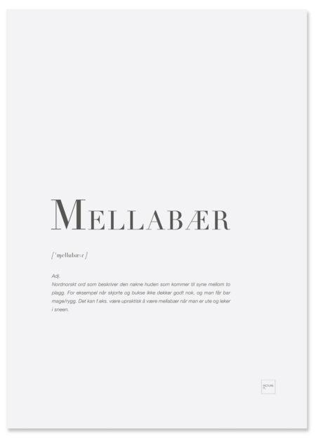 mellabær-poster