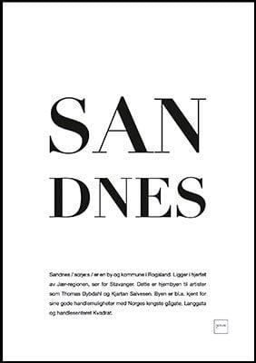sandnes poster