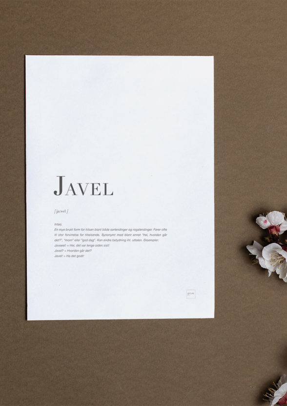 JAVEL A5 (kort, uten konvolutt)