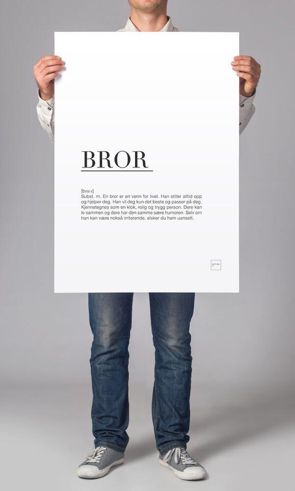 BROR (bildet viser en 50x70cm poster, i pakken er det 30x40cm)