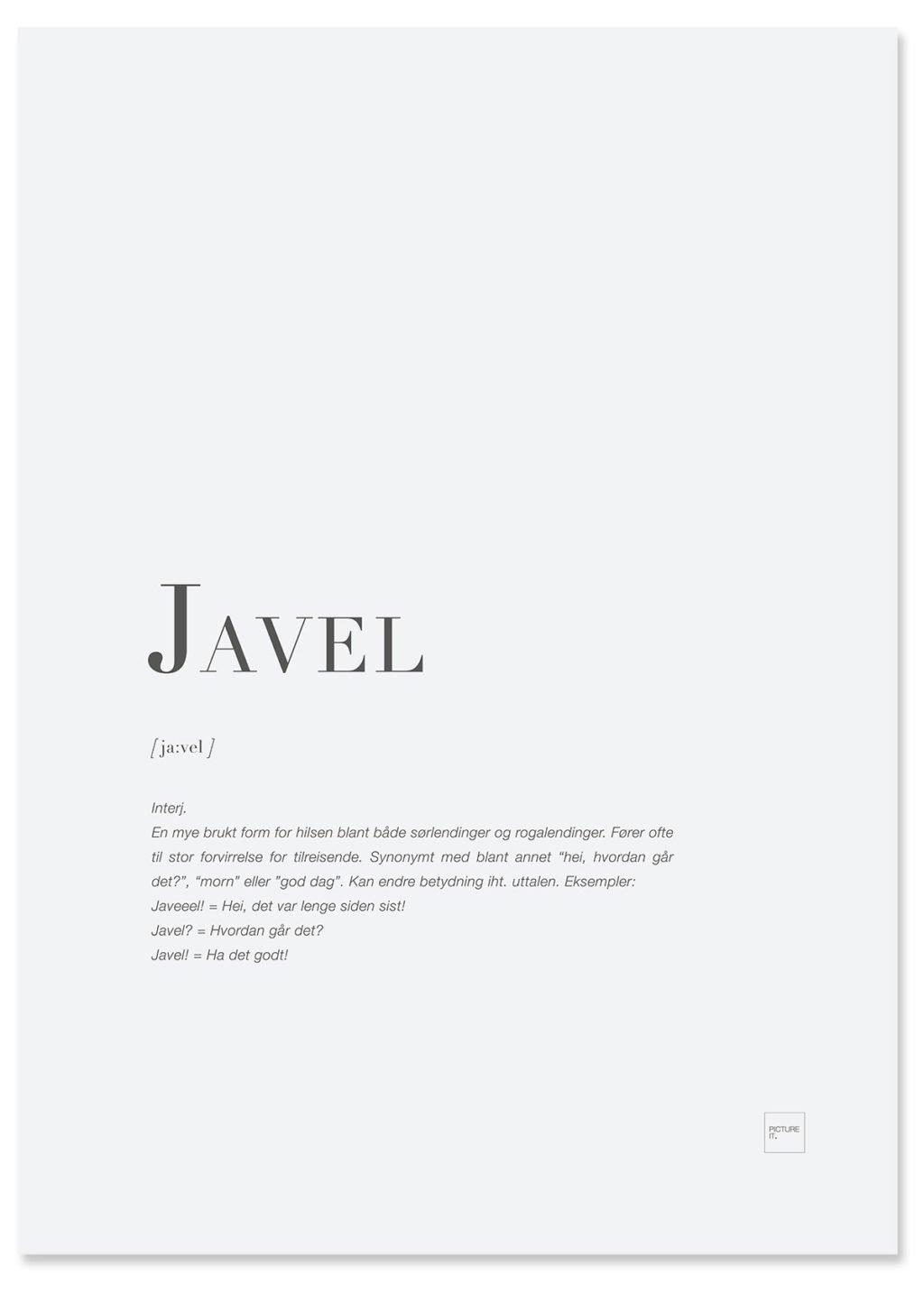 JAVEL poster