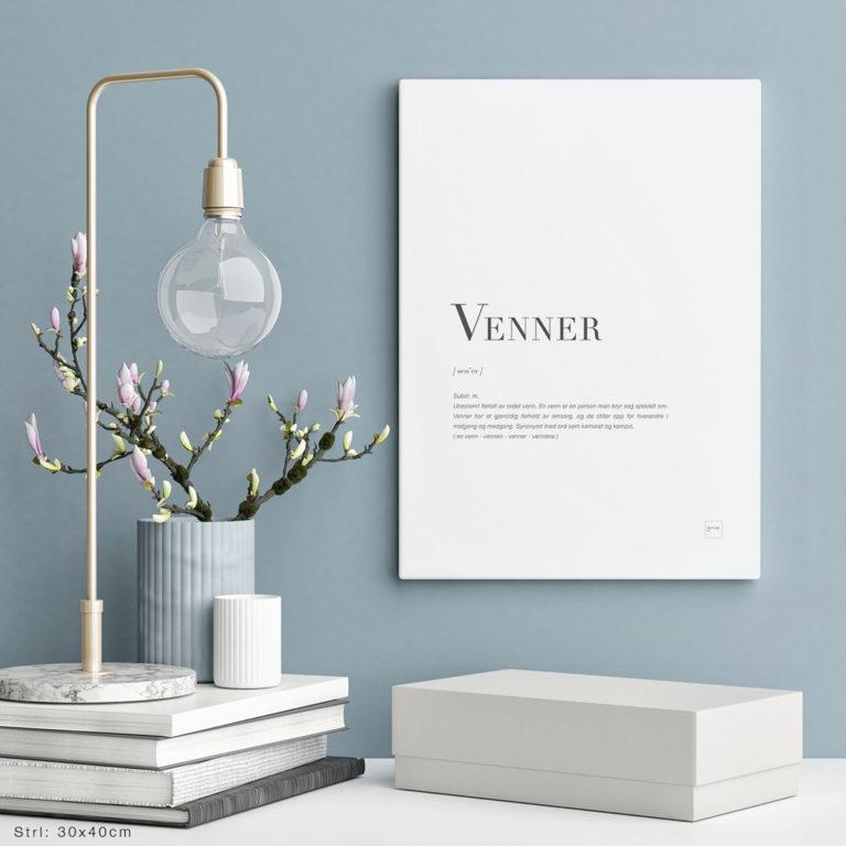 VENNER-30x40cm