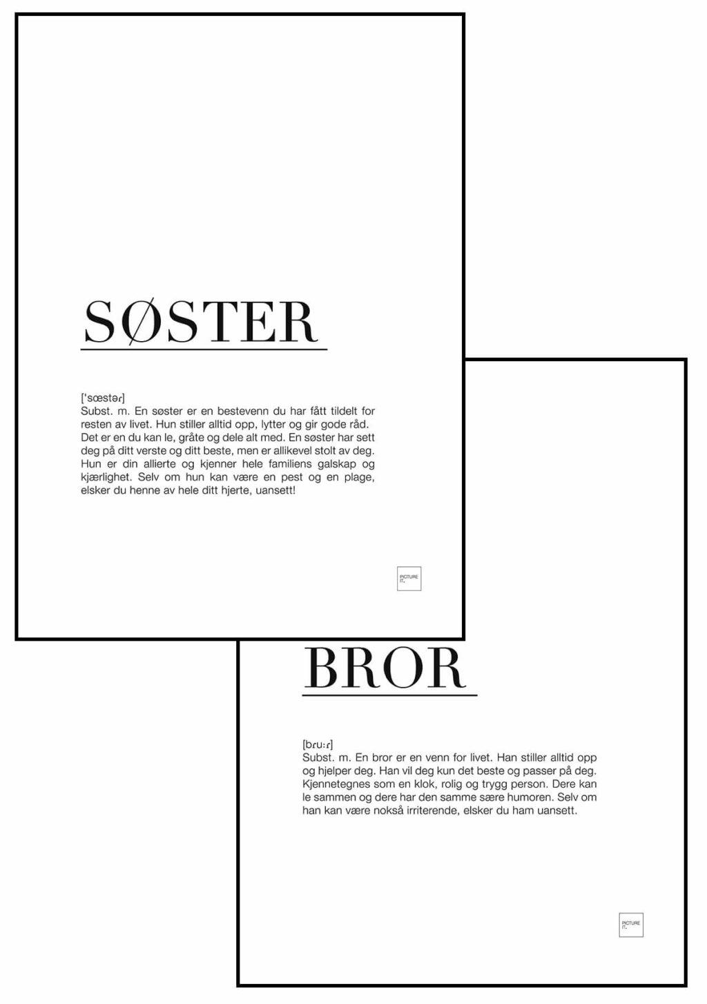 SØSTER + BROR