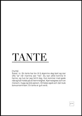 tante poster