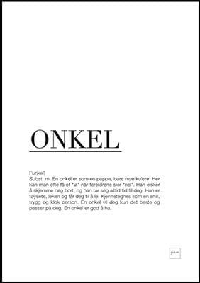 onkel poster