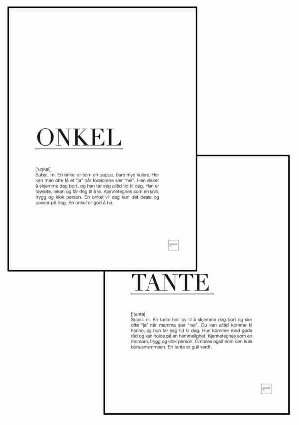 TANTE + ONKEL POSTER