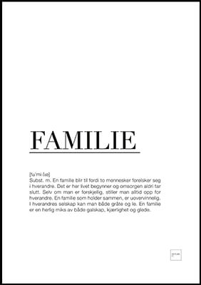 Familie poster