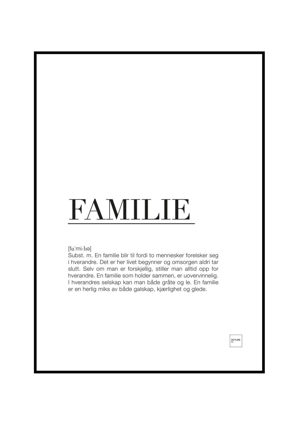 Familie m/ beskrivelse