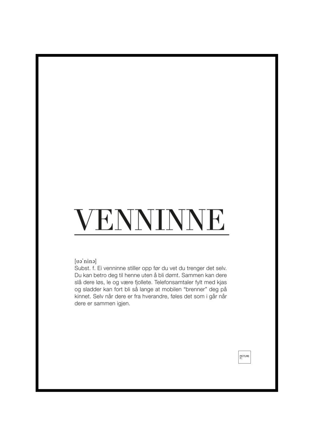 venninne poster