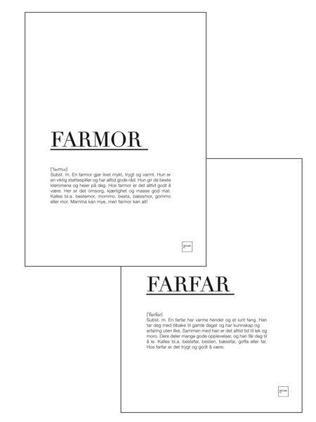 farfar + farmor 30x40cm