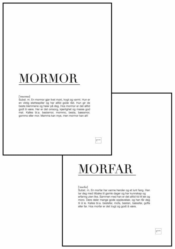 MORMOR + MORFAR 30x40cm