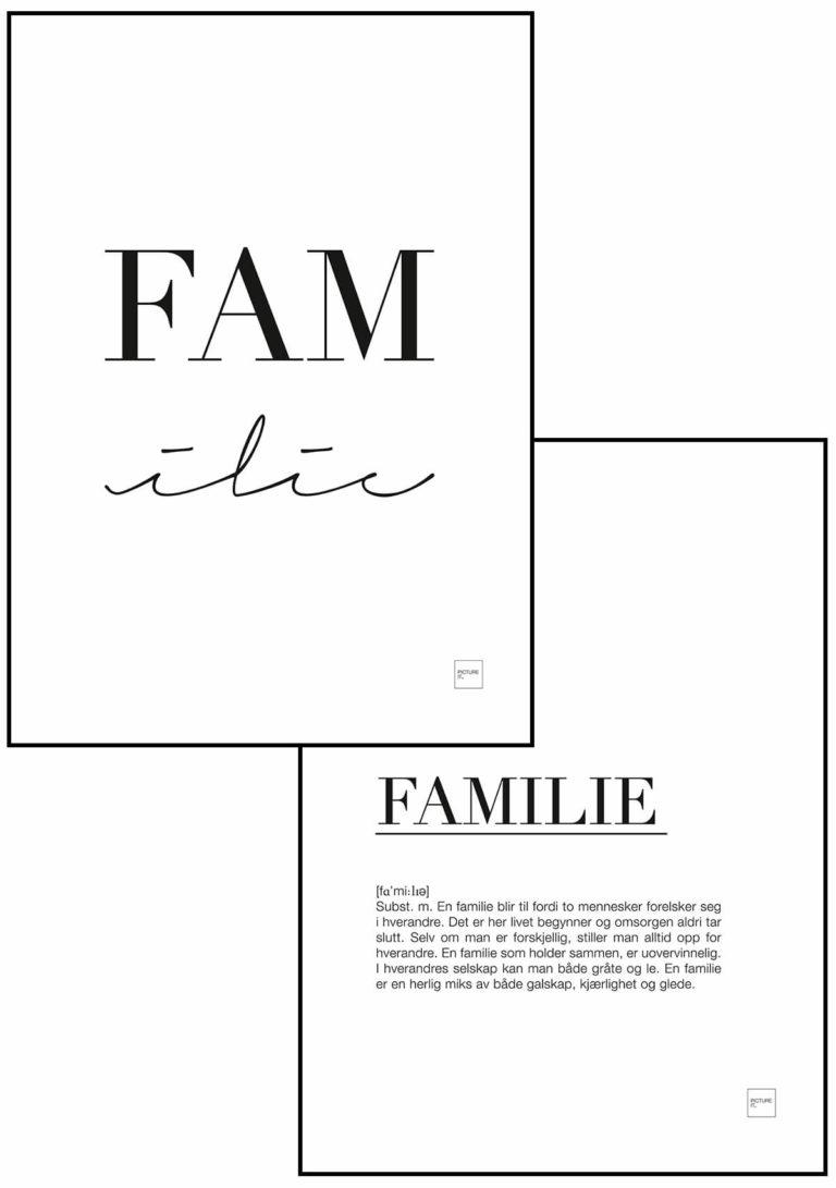 FAMilie + FAMILI m/forklaring