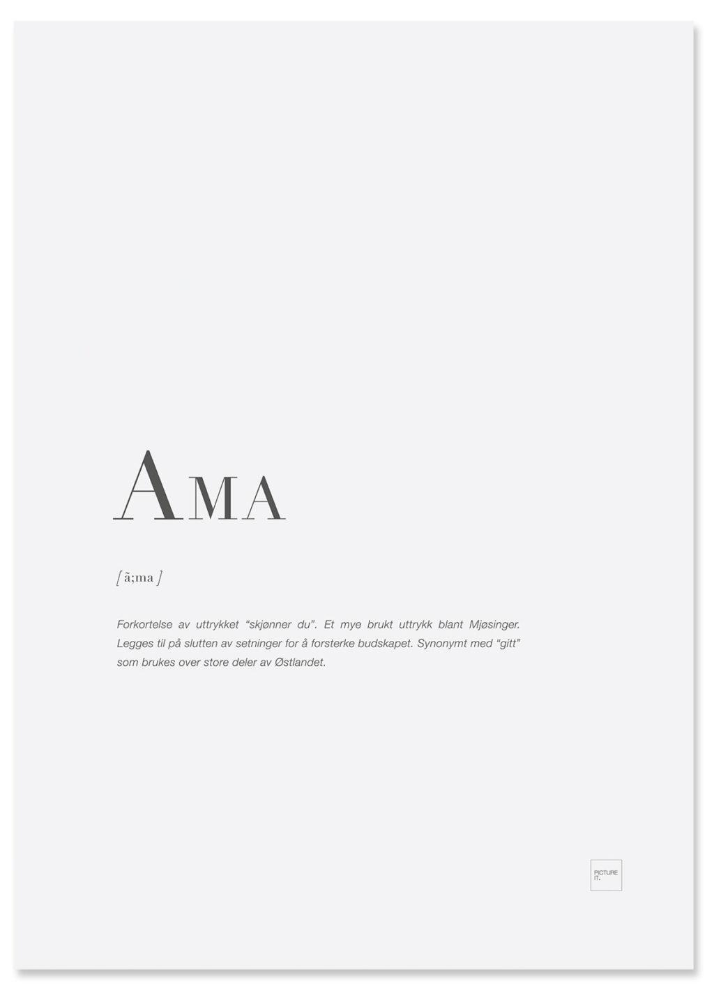 AMA-poster
