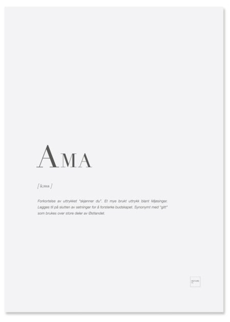 AMA-poster