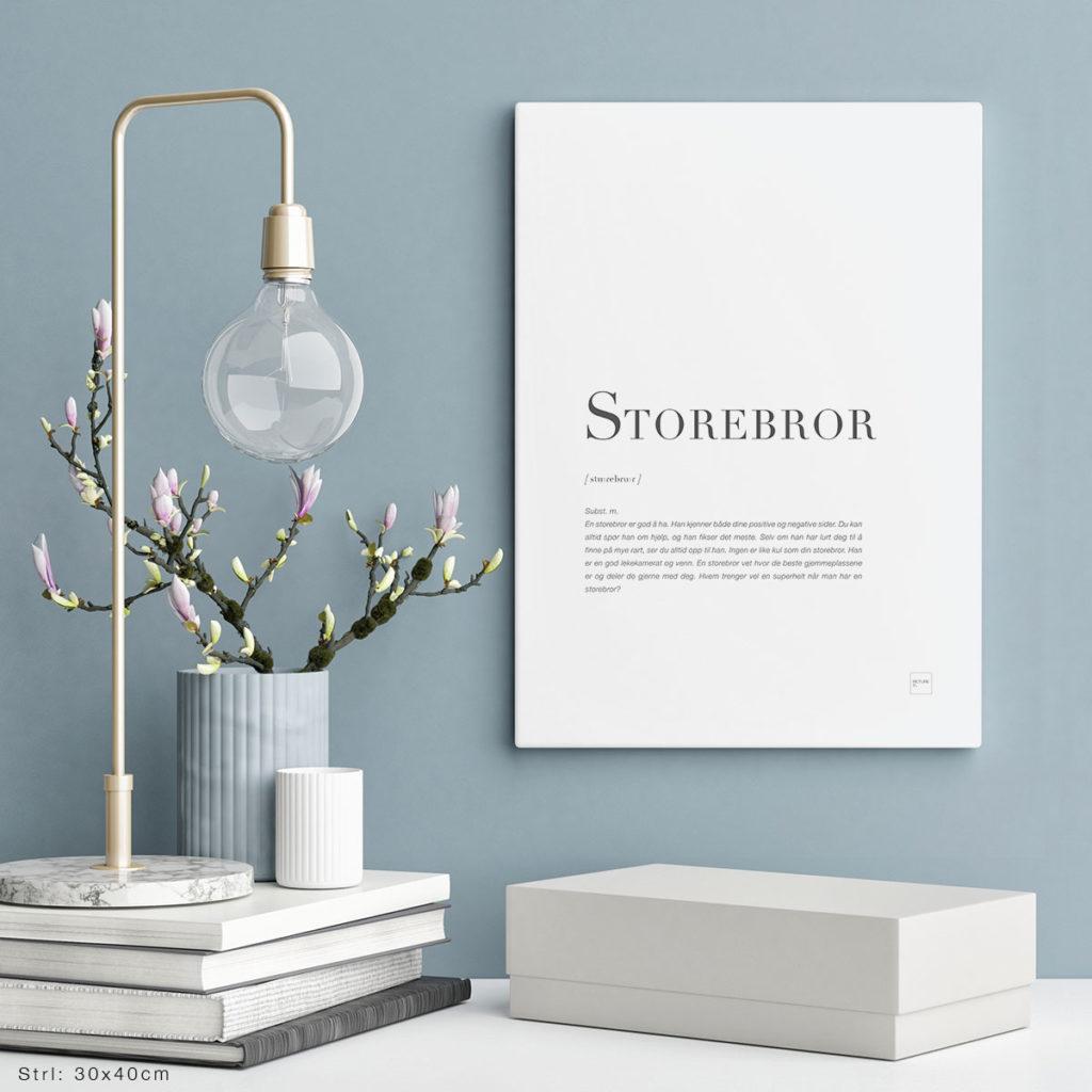 STOREBROR-30x40cm