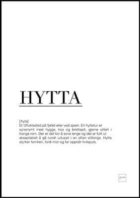 hytta poster