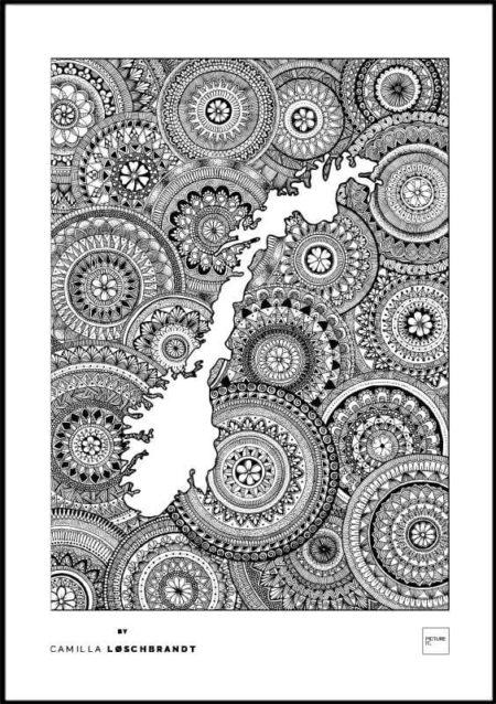 Norgeskart - mandala