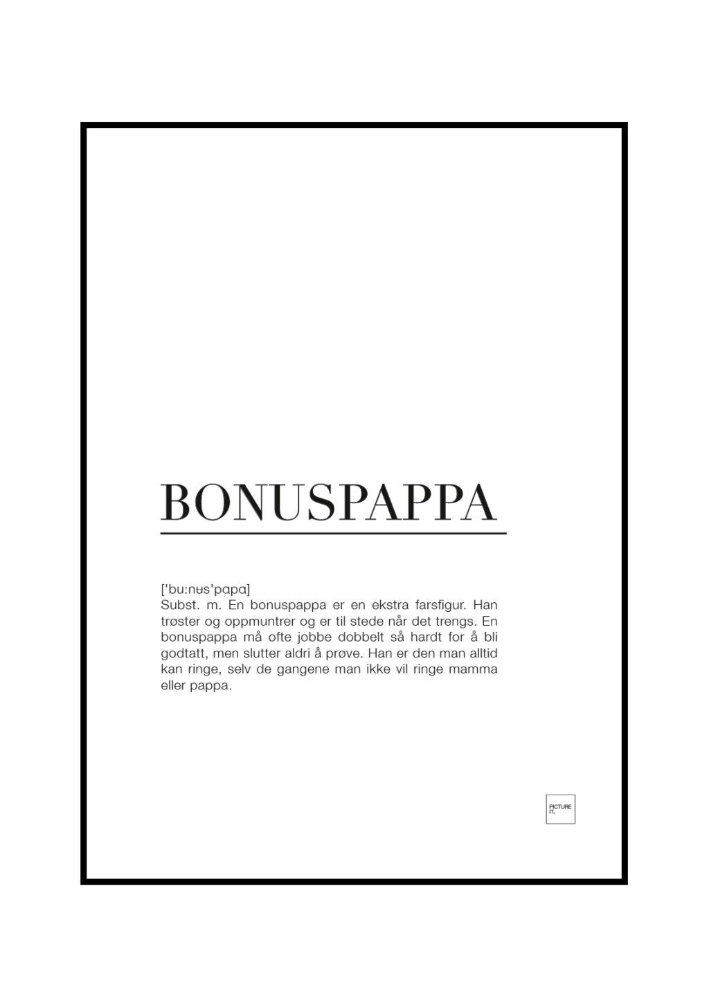 bonuspappa poster
