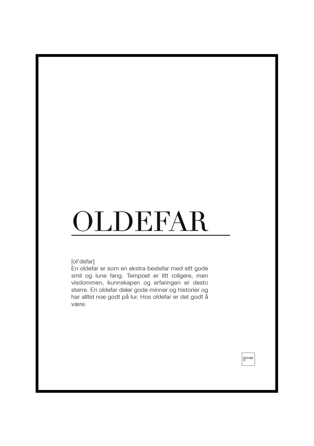 oldefar poster