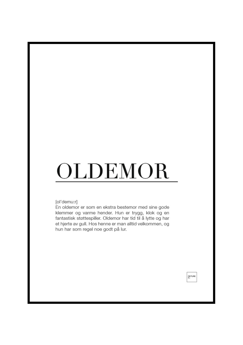 oldemor poster