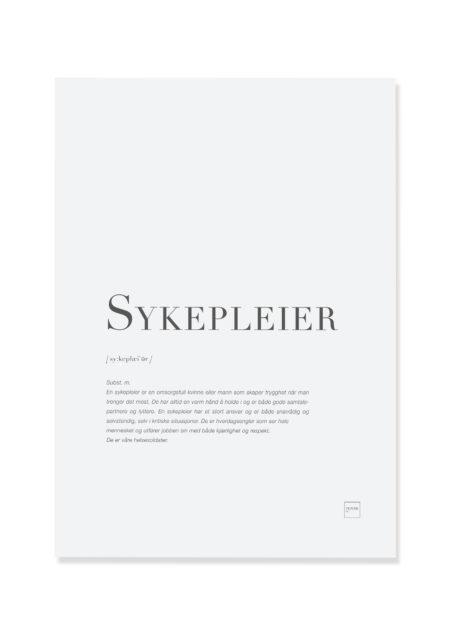 Sykepleier poster
