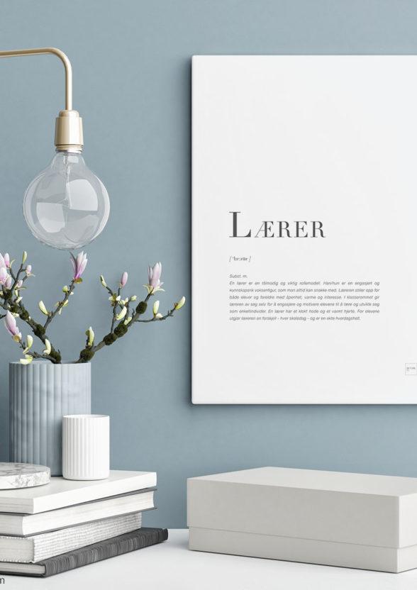 LÆRER-30x40cm