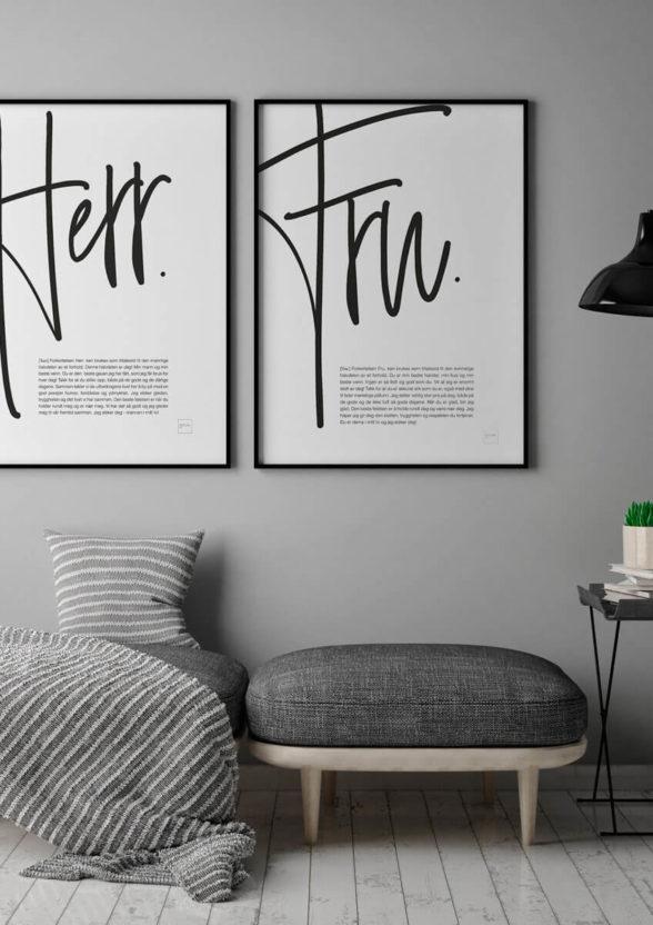 Herr & Fru plakatene