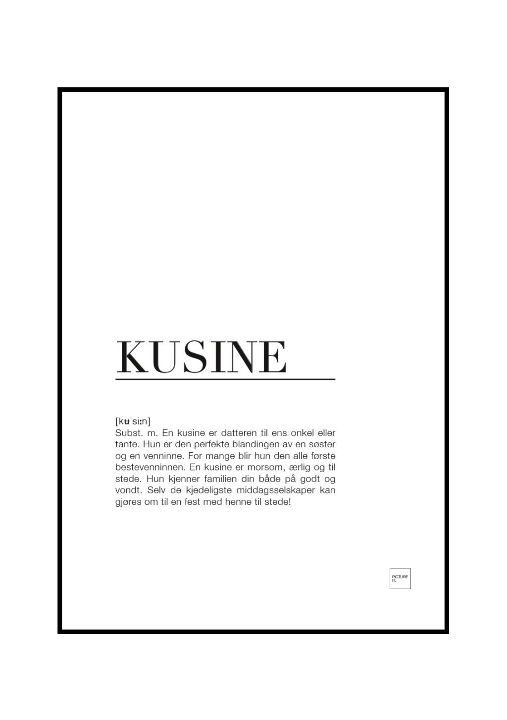 kusine poster