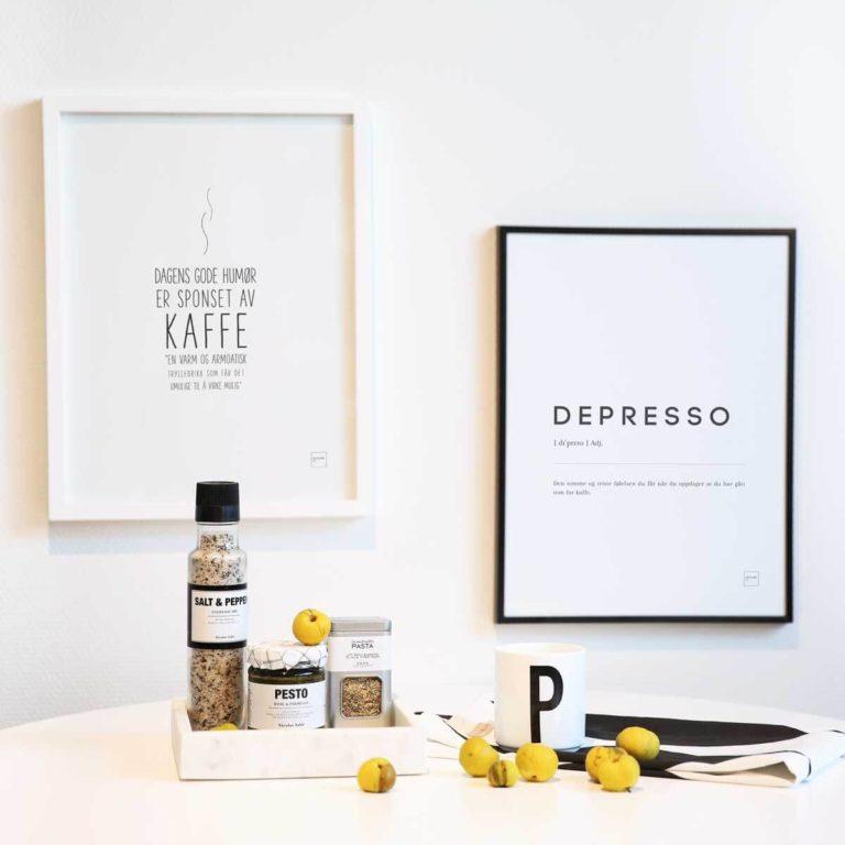 KAFFE + DEPRESSO plakat sett