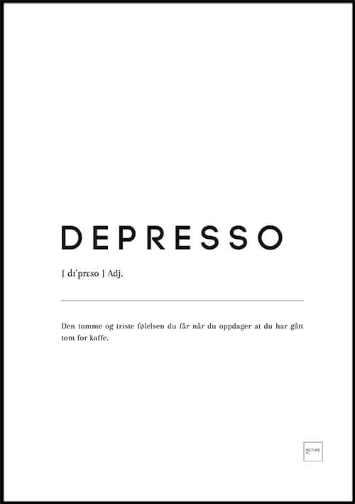 Depresso poster