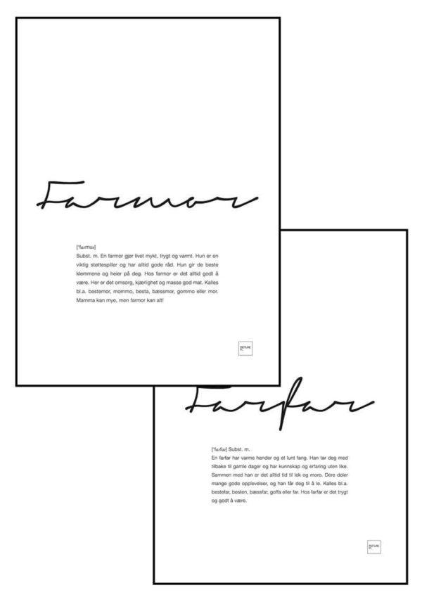farmor+farfar-posters