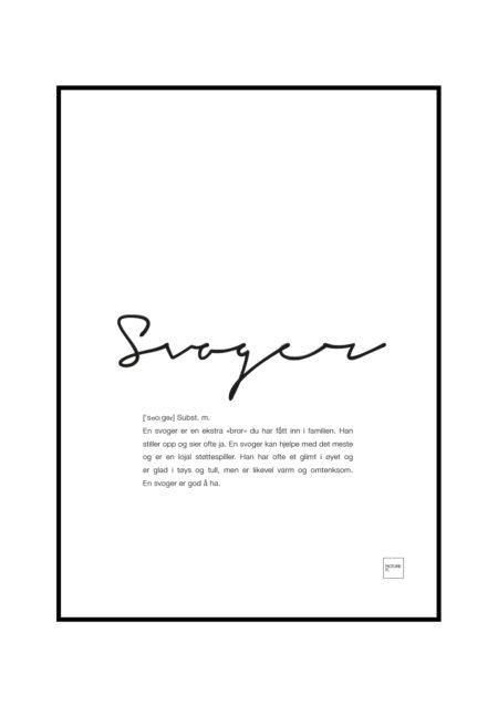 svoger poster