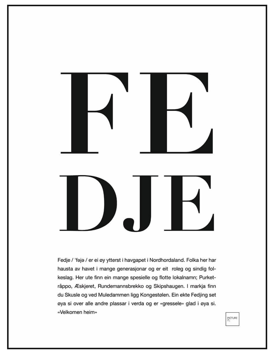 fedje poster