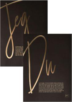 Gull versjon av DU og JEG posterne