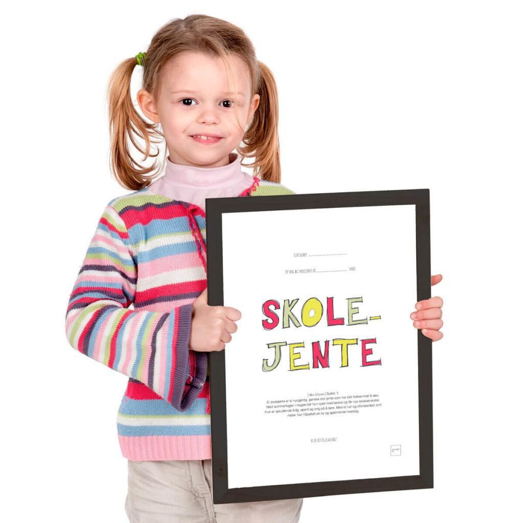 Skolejente plakat som kan fargelegges