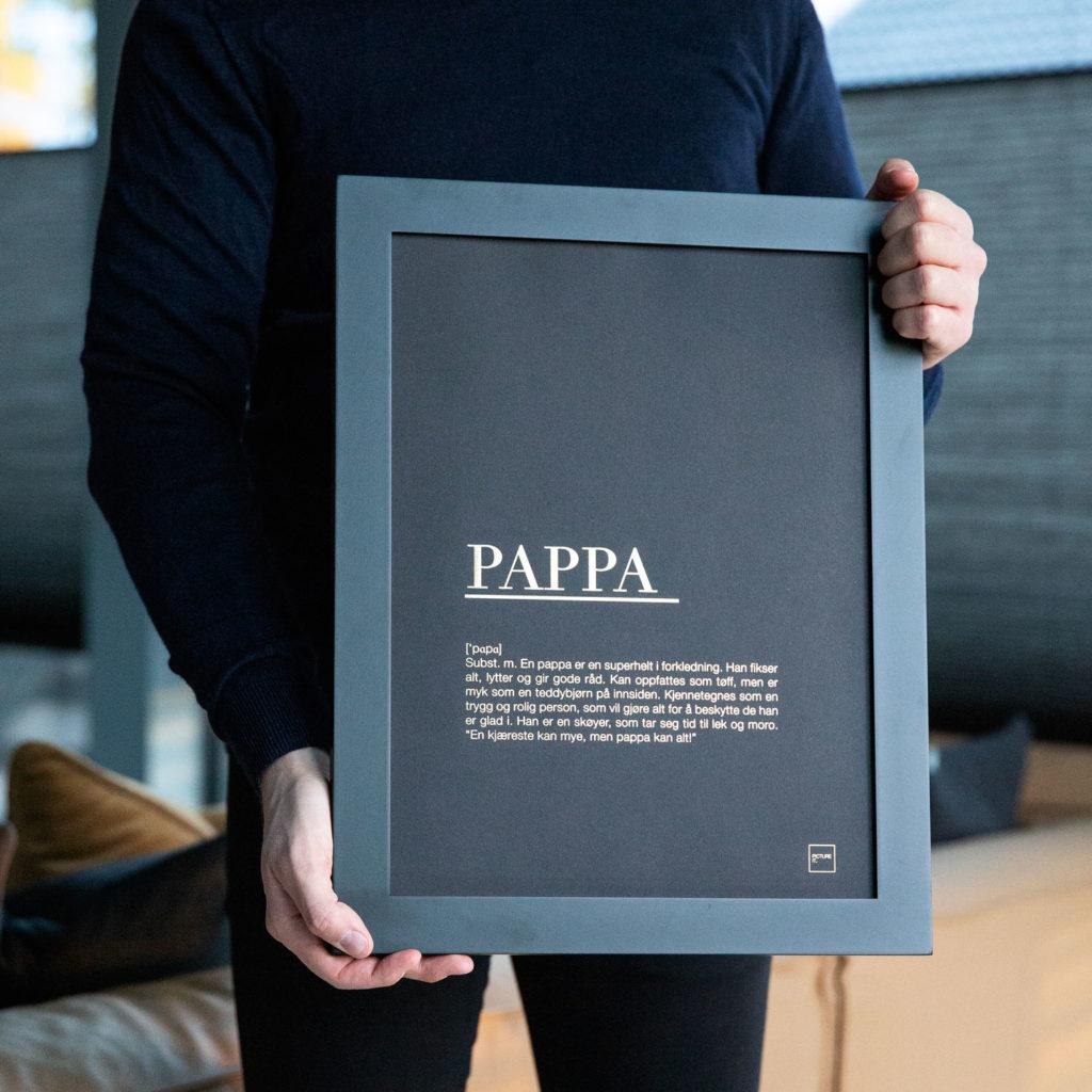 gave til pappa