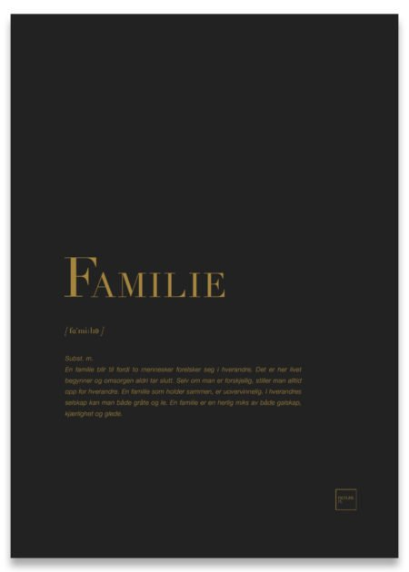Familie gull