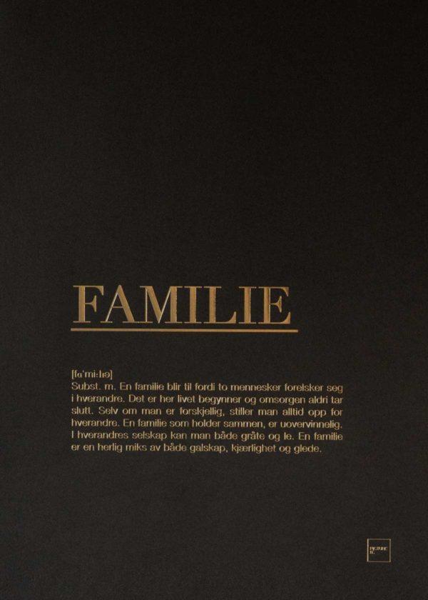 FAMILIE gull poster