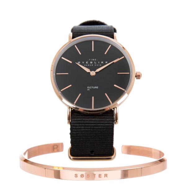SØSTER armbånd + ØYEBLIKK klokke
