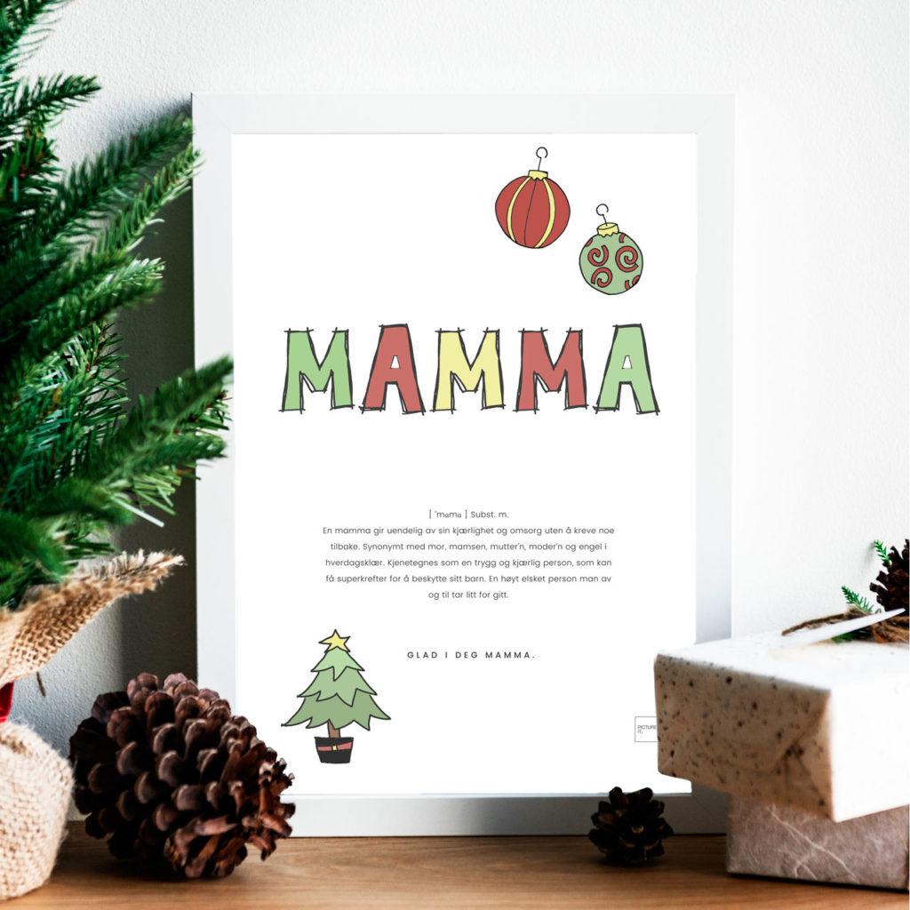 MAMMA fargelegg poster