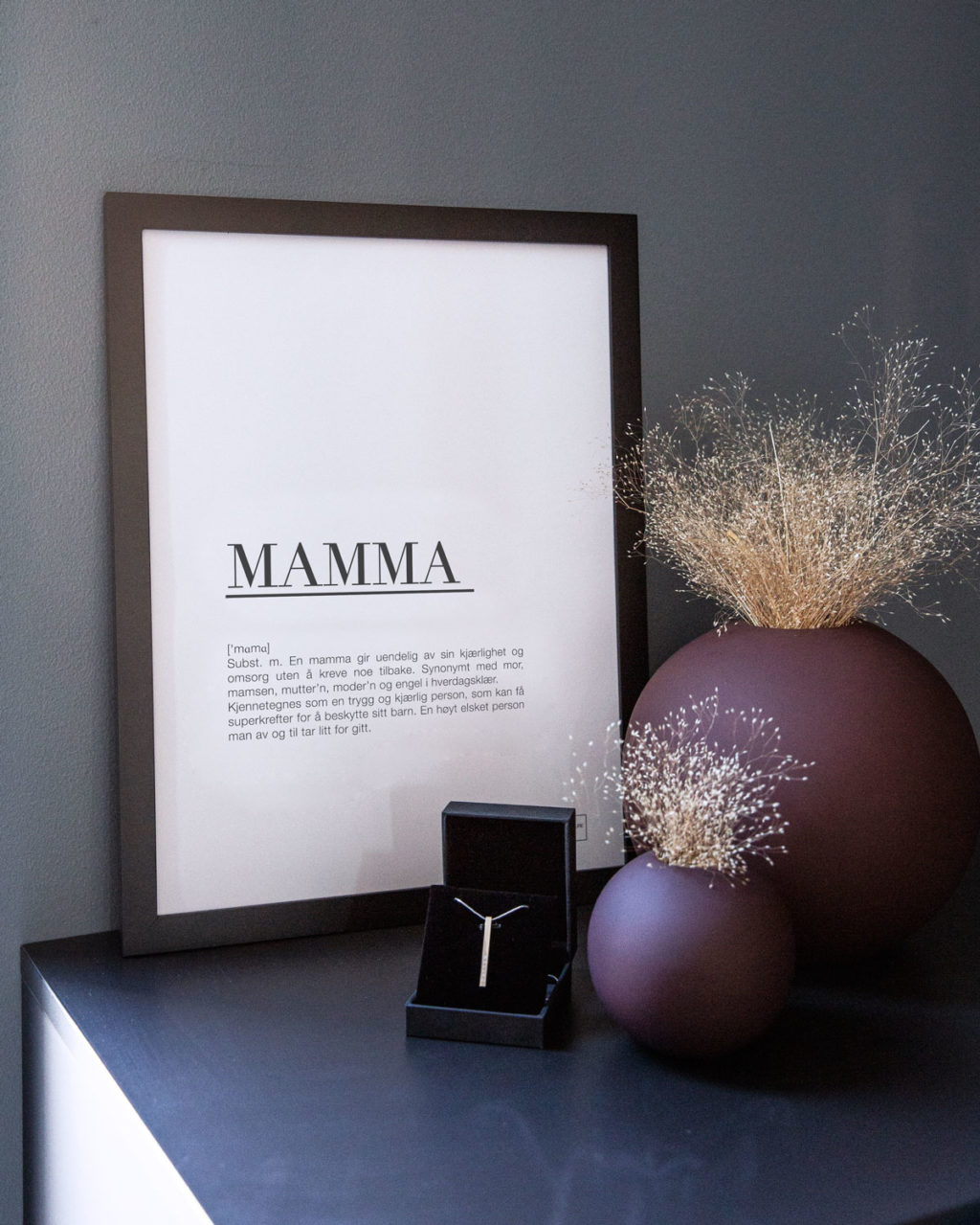 MAMMA stål smykke inkl. poster