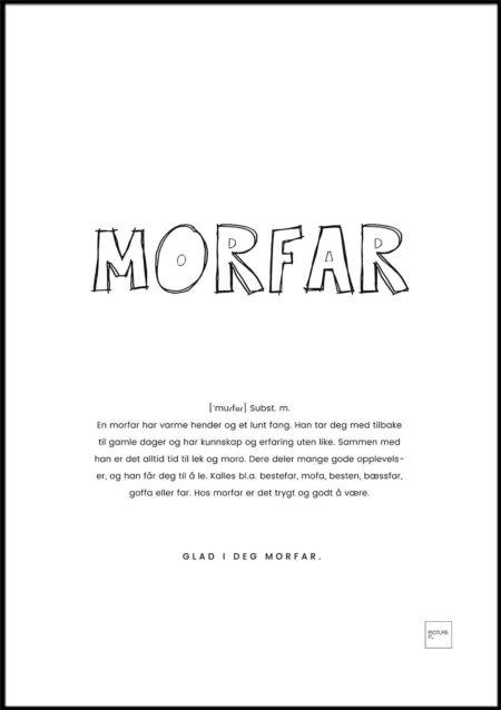 MORFAR fargelegg poster