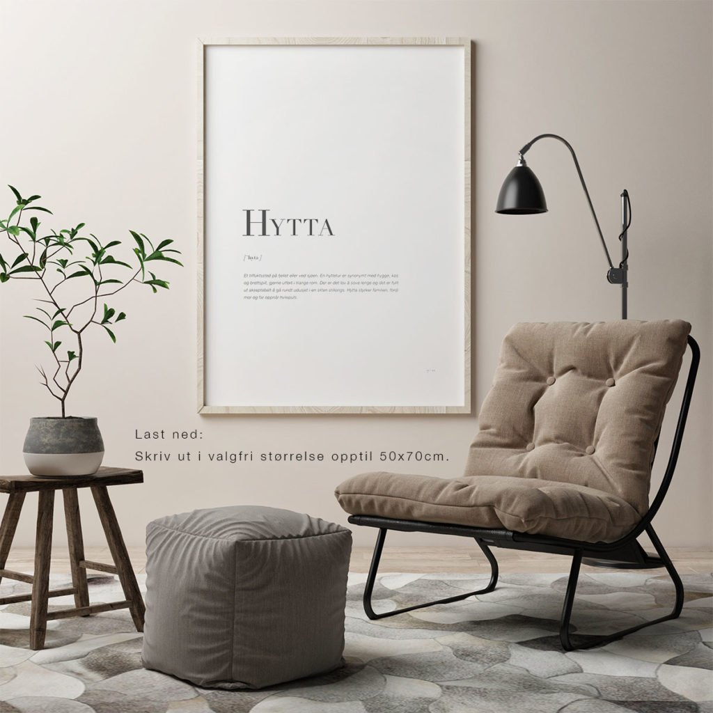 HYTTA-50x70cm