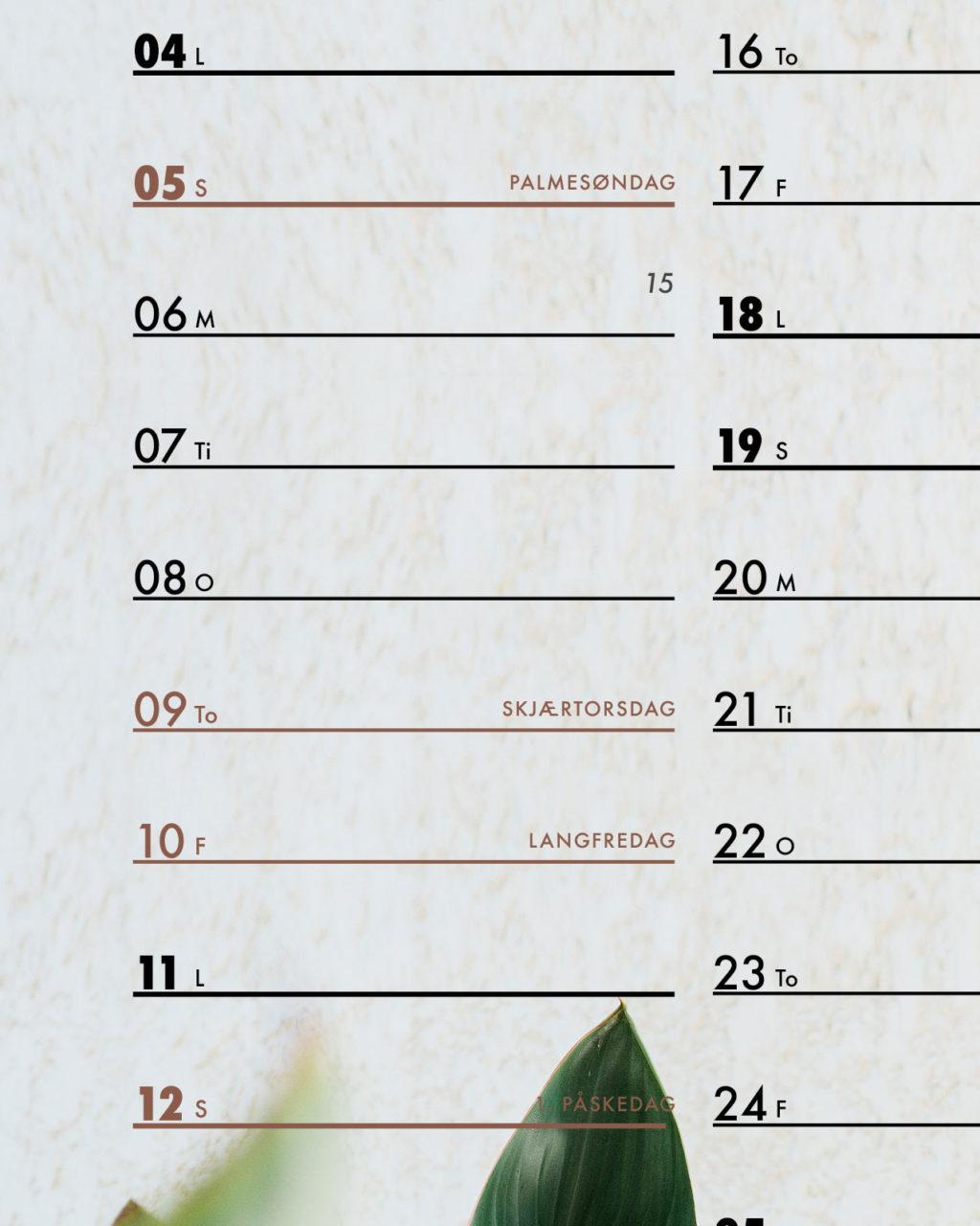 Oversikt over helligdager i Norge