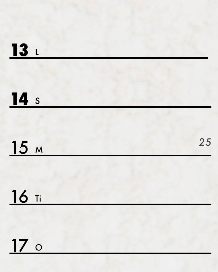 Kalender med ukenummer